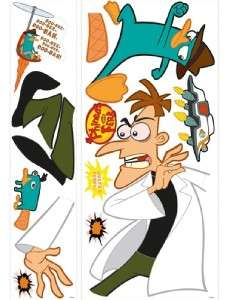 Disney Phineas and Ferb AGENT P WALL DECALS STICKERS 034878113449