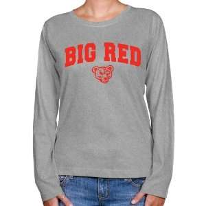 Cornell Big Red Ladies Ash Logo Arch Long Sleeve Classic