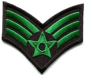 Army military insignia rank war biker retro applique iron on patch new