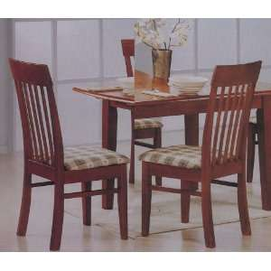Style Slatted Back Dark Oak Wood Dining Room Chairs Furniture & Decor