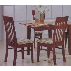 Style Slatted Back Dark Oak Wood Dining Room Chairs Furniture & Decor