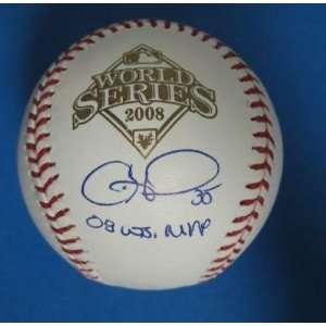 Cole Hamles Phillies Autographed/Signed World Series Baseball Psa/Dna