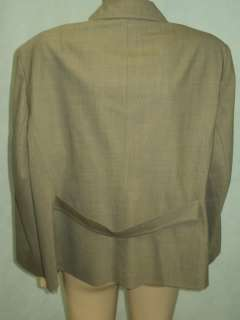 TALBOTS Light brown Wool Stretch Jacket Blazer Plus Sz 22W