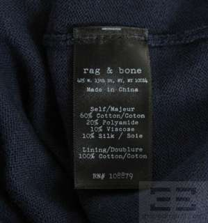 Rag & Bone Brown And Black Knit Long Sleeve Sweater Dress Size Medium