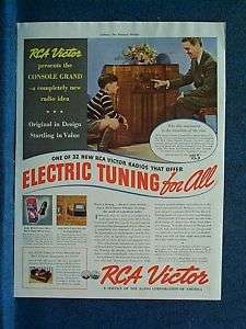1938 RCA Victor Radio Ad ~ Console Grand Model 97KG