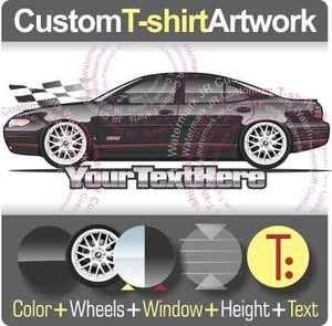 Custom T shirt for 2000 01 02 03 04 05 06 Pontiac Grand Prix SE GT 4dr