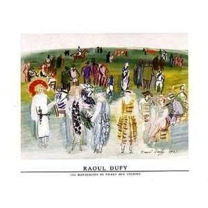 Mannequins de Poiret aux Cours by Raoul Dufy 32x24
