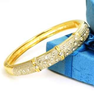 Hb421 38g High Quality Lady 18K Gold GP Bracelet Bangle
