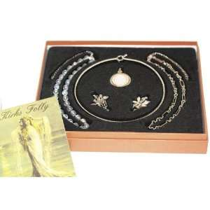 Kirks Folly Live Love Laugh SEAVIEW MOON Necklace and Charms Boxed Set