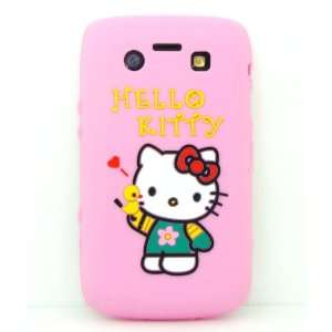 NC] BLACKBERRY 9700 9780 PINK HELLO KITTY WITH GREEN SHIRT SILICON
