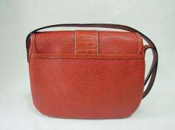 AUTHENTIC LANCEL PARIS Red Leather Shoulder bag Purse Made in ITALY