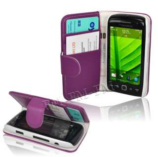 Wallet Case Cover Pouch For Blackberry 9860 Torch Monaco