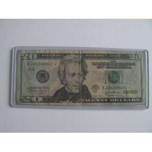 Twenty Dollars Star Note Series 2004 $20 Bill EJ00399041