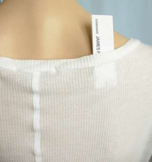 James Perse Casual T Shirt Top V Neck White 2 M 952