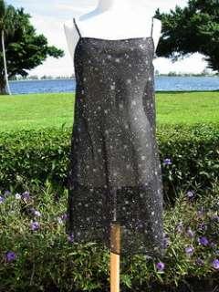 KRIZIA POI SHEER STARBURST SLIT DRESS JACKET ENSEMBLE