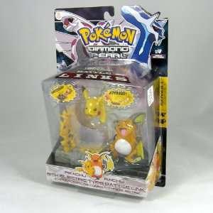 Pokemon Diamond Pearl Pikachu and Raichu: Toys & Games