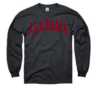 Alabama Crimson Tide Black Arch Long Sleeve T Shirt