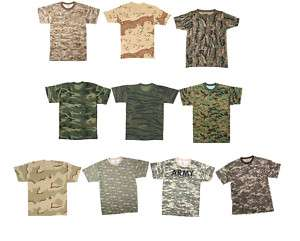 Army Camouflage Tee Military Non Vintage Camo T Shirt