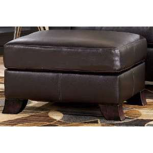 Chocolate Contemporary Living Room Chair Ottoman