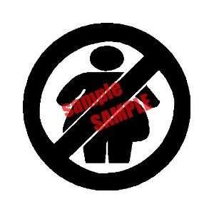 NO FAT CHICKS NFC WHITE VINYL DECAL STICKER Everything