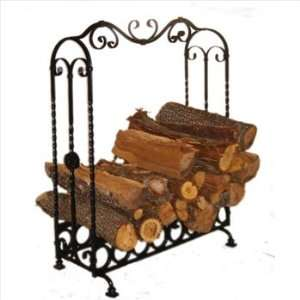 Pioche Large Wrought Iron Indoor Log Holder Home