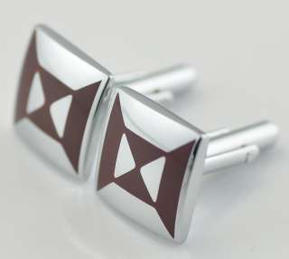 New Shine Design Fashion Mens Cufflinks Stainless Steel Dark Red color