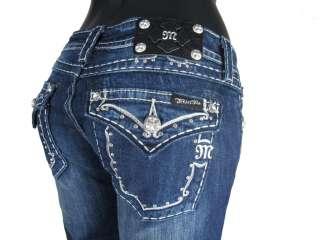 MISS Me Boot Cut NWT Rhinestones and Studs style # JW5161B4