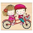 Penny Black Rubber Stamp MIMI GOES TANDEM 4231K Love 2012