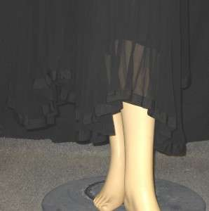 NWT JEAN PAUL GAULTIER Black Pleated Skirt 40 6 $1340