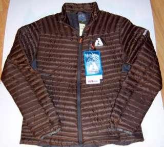 Large MicroTherm Down Shirt Jacket First Ascent 800 $169 D Oak