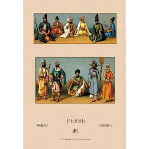 Traditional Dress of Persia #3 24X36 Giclee Paper: Home