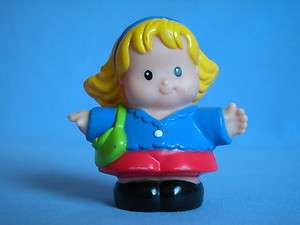 Fisher Price Little People Sarah Red Skirt Green Purse