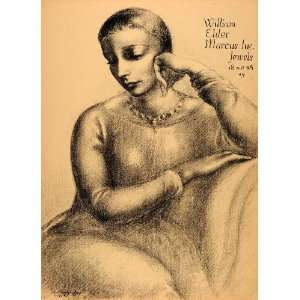 1954 Original Lithograph Clara Klinghoffer William Elder