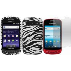 Zebra Hard Case Cover+LCD Screen Protector for Samsung