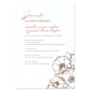 Flora Fauna Wedding Invitations