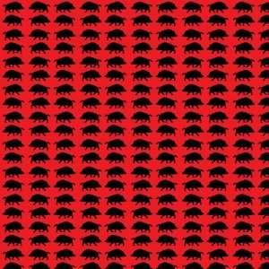 HOGS RED & BLACK PATTERNS Vinyl Decal Sheets 12x12 x 3