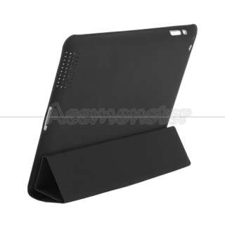 Smart Cover PU Leather Case Stand Magnetic With Back Case for iPad 2