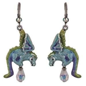 Kirks Folly Hydra Water Dragon Leverback Pierced Earrings
