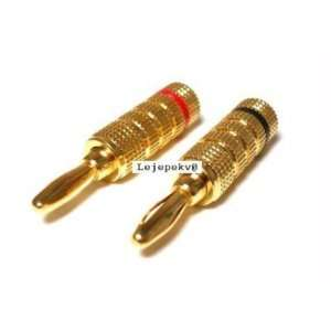 High Quality Copper Speaker Banana Plugs   Compression Fit