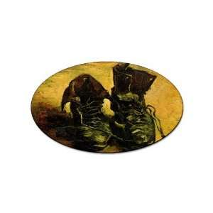 A Pair of Shoes 2 By Vincent Van Gogh Oval Magnet: Office