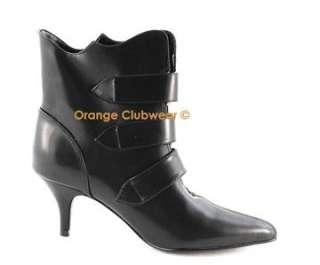 DEMONIA FURY 06 Gothic Punk Ankle High Boots w/ Skulls