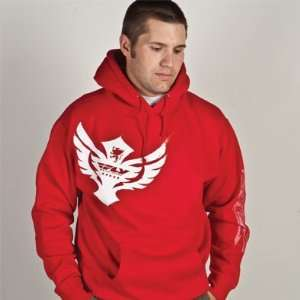 FLY CASUAL FLY HOODY BADGE RED XXL BADGE HOODY RED XX Automotive