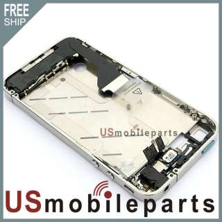 US iPhone 4 metal chrome bezel middle frame chassis plate housing