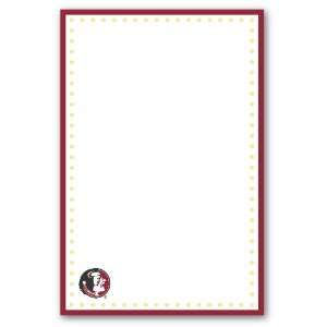 Palm Tree Paperie Florida State Seminoles Garnet and Gold Polka Dot
