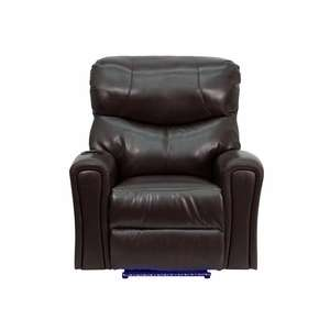 Flash Chair Recliner Leather Brown Powered Auto Massage