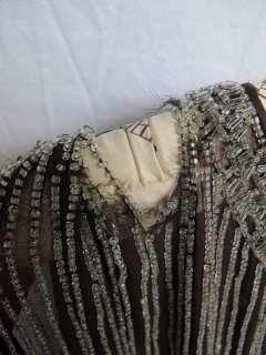 Vtg LOT 20s 30s 40s Silk LACE Deco Era Beaded FLAPPER Party DRESS