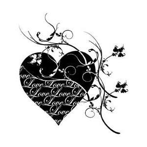 Penny Black Rubber Stamp 3.5X4 Love Is The Message