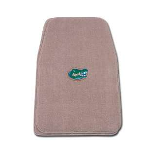 Beige Universal Fit Front Two Piece Floormat with NCAA Florida Logo