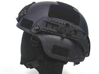 MICH TC 2000 ACH Helmet w/NVG Mount & Side Rail BK