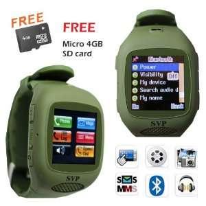 G13 Green (Micro 4GB) GSM Quadband Watch Phone (Unlocked